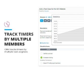 CRM Track timers by multiple members