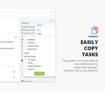 CRM Easily copy tasks