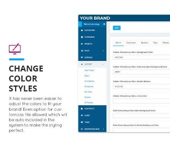 CRM Change color styles
